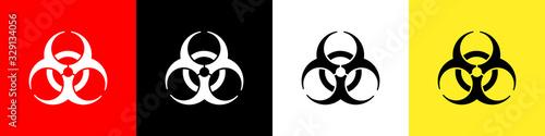 Biohazard sign Canvas Print