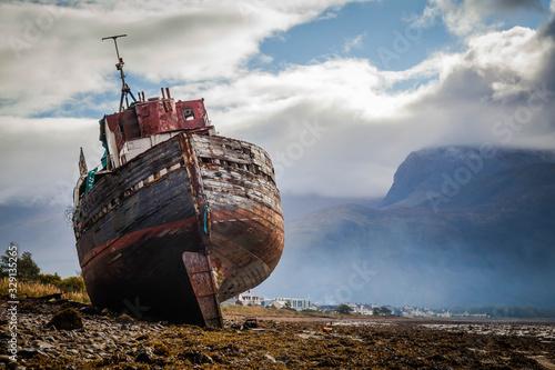 Wallpaper Mural Corpach shipwreck at Loch Linnhe