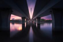 Night View Under The Bridge