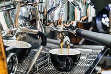 Close Up Image Of Espresso Cof...