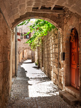 An Intricate Network Of Busy Little Winding Streets Of Rhodes Old Town