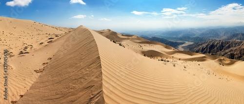Fototapeta Piasek  cerro-blanco-sand-dune-near-nasca-panoramic-view