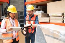 Hispanic Workers Checking List...