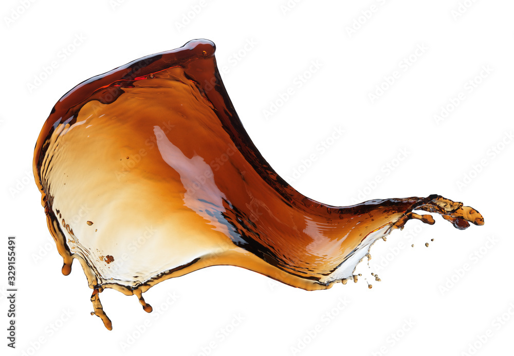 Fototapeta Cola splash isolated on white