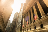 Fototapeta Nowy Jork - New York stock exchange, Wall Street, USA
