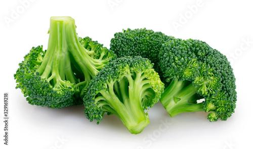 Obraz Fresh broccoli on white background - fototapety do salonu