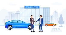 Client Shaking Automobile Deal...