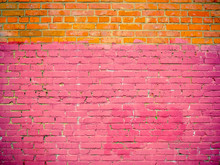 Unevenly Colored Brick Wall Te...