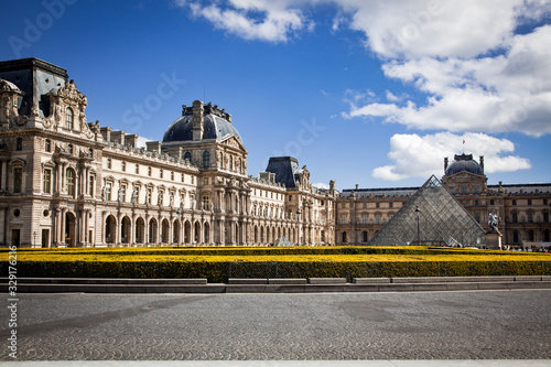 louvre museum in Paris France travel background Poster Mural XXL