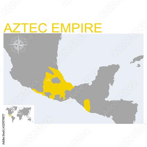 Fotografija vector map of the Aztec Empire