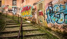 Street Graffiti At Lisbon Portugal