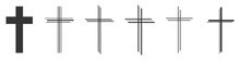 Set Of Christian Cross Vector ...