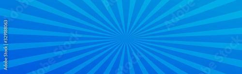 Obraz Blue glow sun - fototapety do salonu