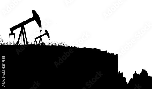 Oil price war triggered by coronavirus Canvas Print