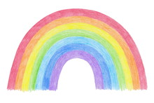 Hand-drawn Rainbow Isolated On...