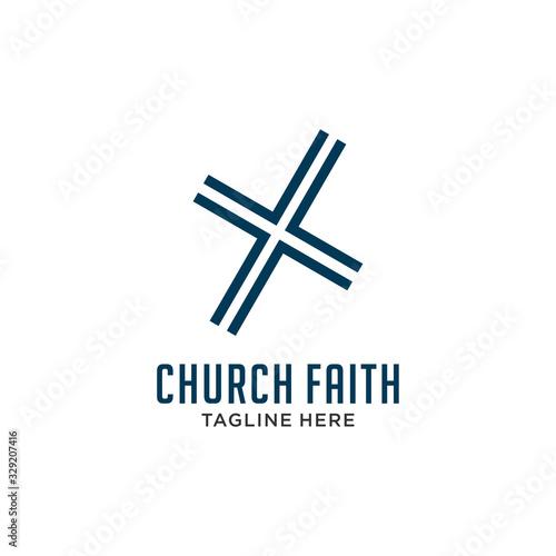 Cuadros en Lienzo simple Church logo
