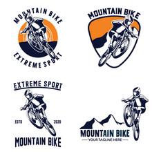 Set Of Mountain Bike Logo Desi...
