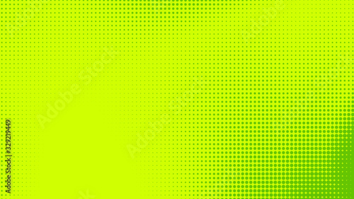 Dots halftone green color pattern gradient texture with technology digital background. Dots pop art comics with nature graphic design.