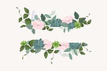Flower  Frame Templates. Vecto...