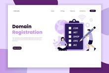 Domain Registration Concept La...