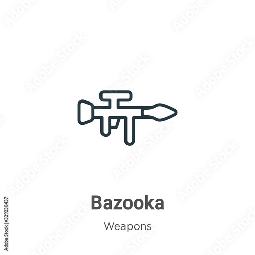 Bazooka outline vector icon Canvas Print