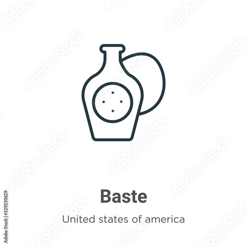 Photo Baste outline vector icon