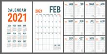 Calendar 2021. English Calende...