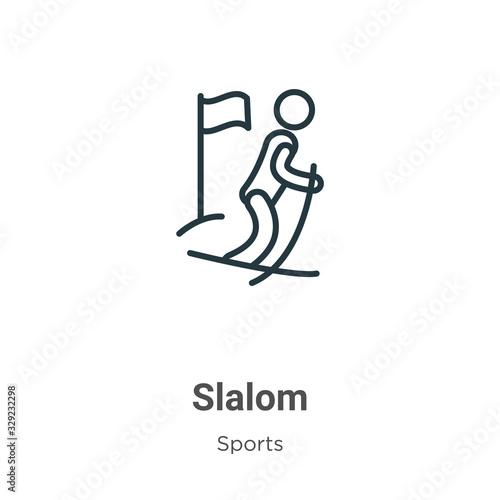 Fotografía Slalom outline vector icon