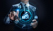 Smart KPI Performance analysis improvement business industrial technology concept.