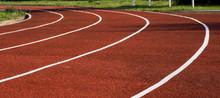Running Track In The Stadium. ...