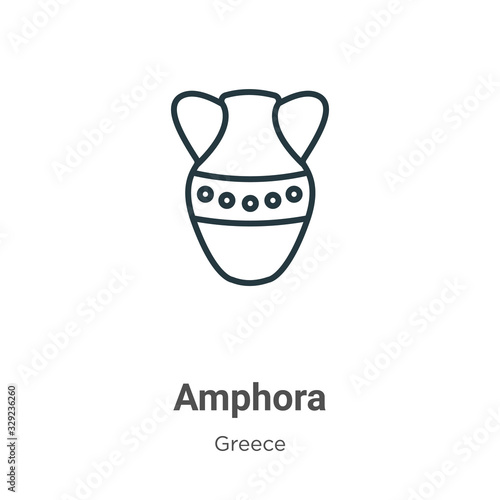 Amphora outline vector icon Wallpaper Mural