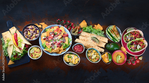 Fototapeta Traditional Mexican food obraz