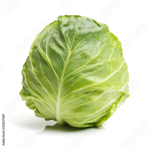 Valokuva cabbage on white background