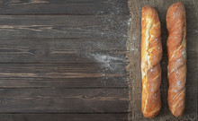 Fresh French Baguette Made Fro...