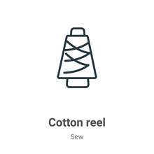 Cotton Reel Outline Vector Ico...