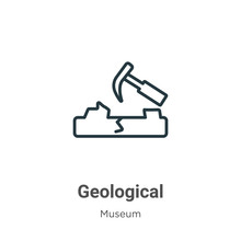 Geological Outline Vector Icon...