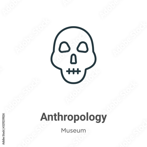 Anthropology outline vector icon Wallpaper Mural