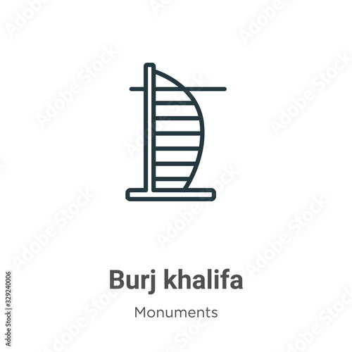 Foto Burj khalifa outline vector icon