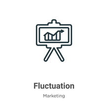 Fluctuation Outline Vector Ico...