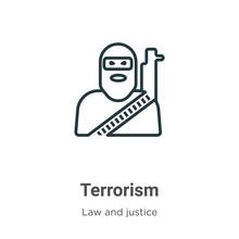 Terrorism Outline Vector Icon....