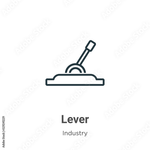 Fotomural Lever outline vector icon