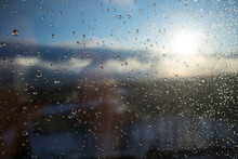 Wet Window After Rain On The B...