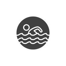 Pool Swimming Vector Icon. Fil...