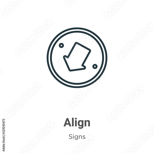 Photo Align outline vector icon