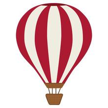 Cartoon Red Hot Air Balloon Ve...