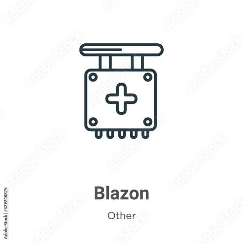 Blazon outline vector icon Canvas Print