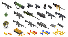 Isometric Army Weapons Collection