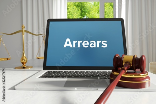 Arrears – Law, Judgment, Web Canvas Print