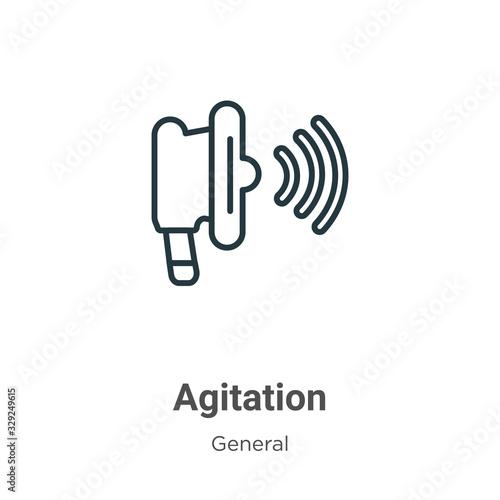 Photo Agitation outline vector icon