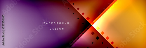 Photo Abstract background - squares and lines composition created with lights and shadows
